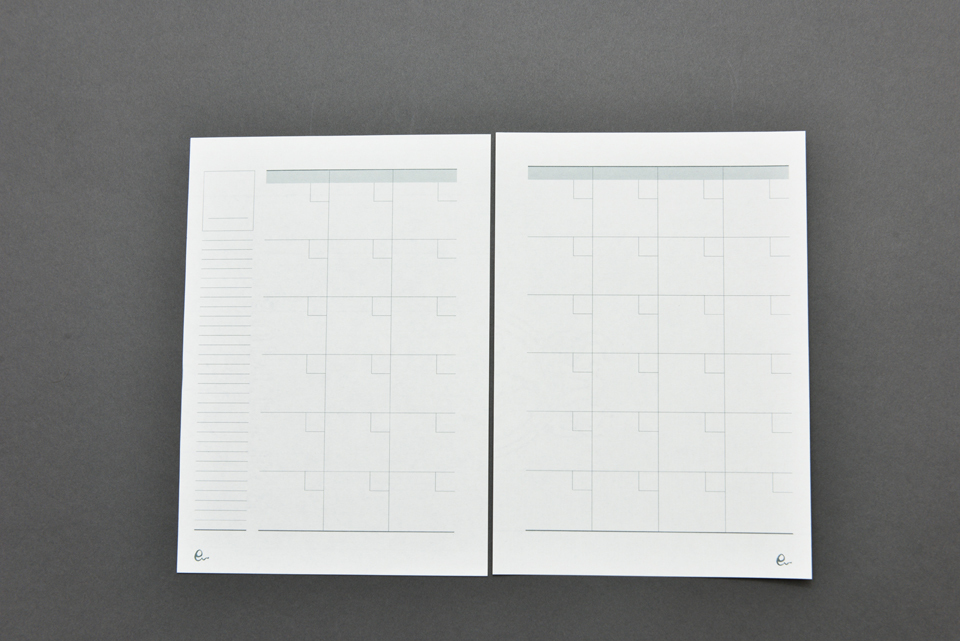 オリジナルリングノート詰め替え用リフィル(スケジュール)