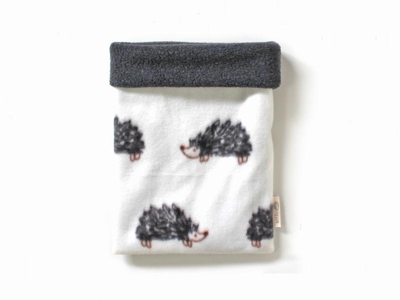 ハリネズミ用寝袋 M(冬用) フリース×フリース ハリネズミ