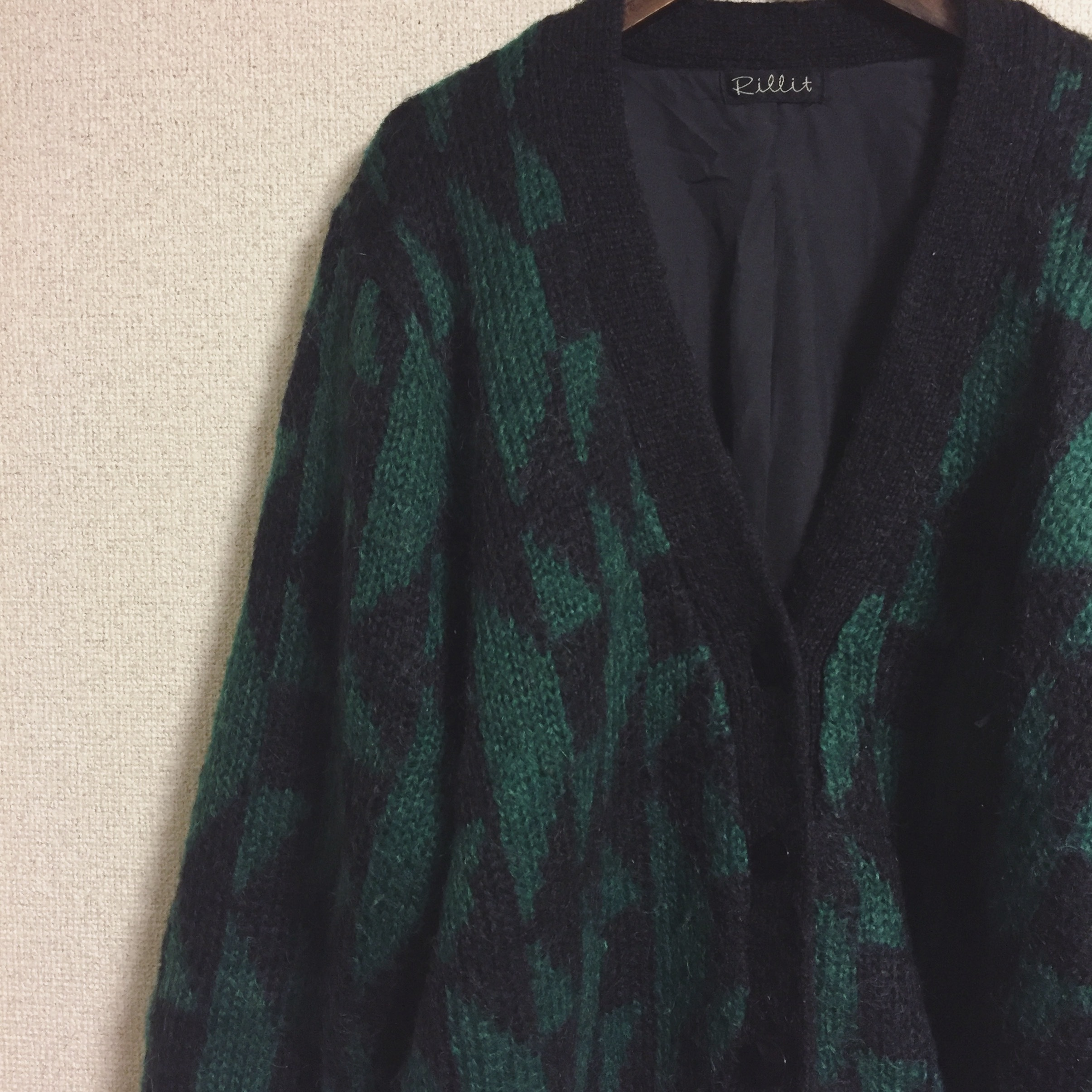 vintage design knit cardigan