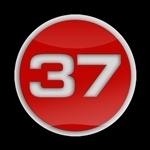 ゴーバッジ(3D)(LC0113 - 3D 37 RED W) - 画像1
