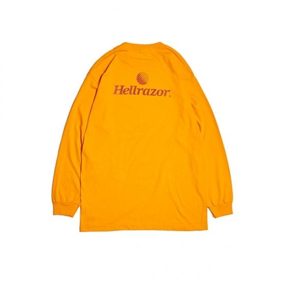 【HELLRAZOR】Trademark Logo Shirt L/S Shirt - Orange
