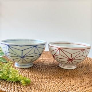 麻の葉 飯碗