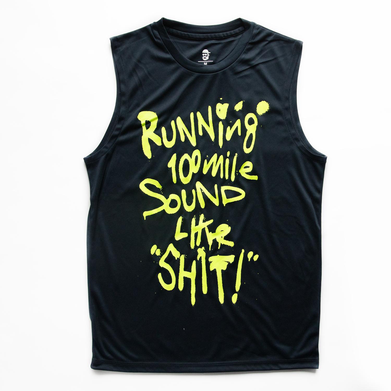 Running 100mile Sounds Like SHIT! - タンクトップ (Navy/Yellow)