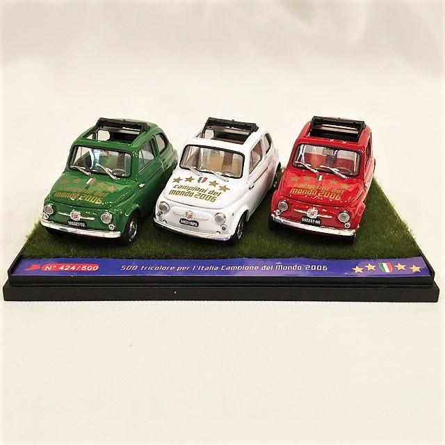Fiat 500 Tricolore Italia Campione del Mondo 2006 【brumm】【1個のみ】【税込価格】