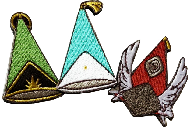 とんがり帽子刺繍バッジ3種(Aセット)
