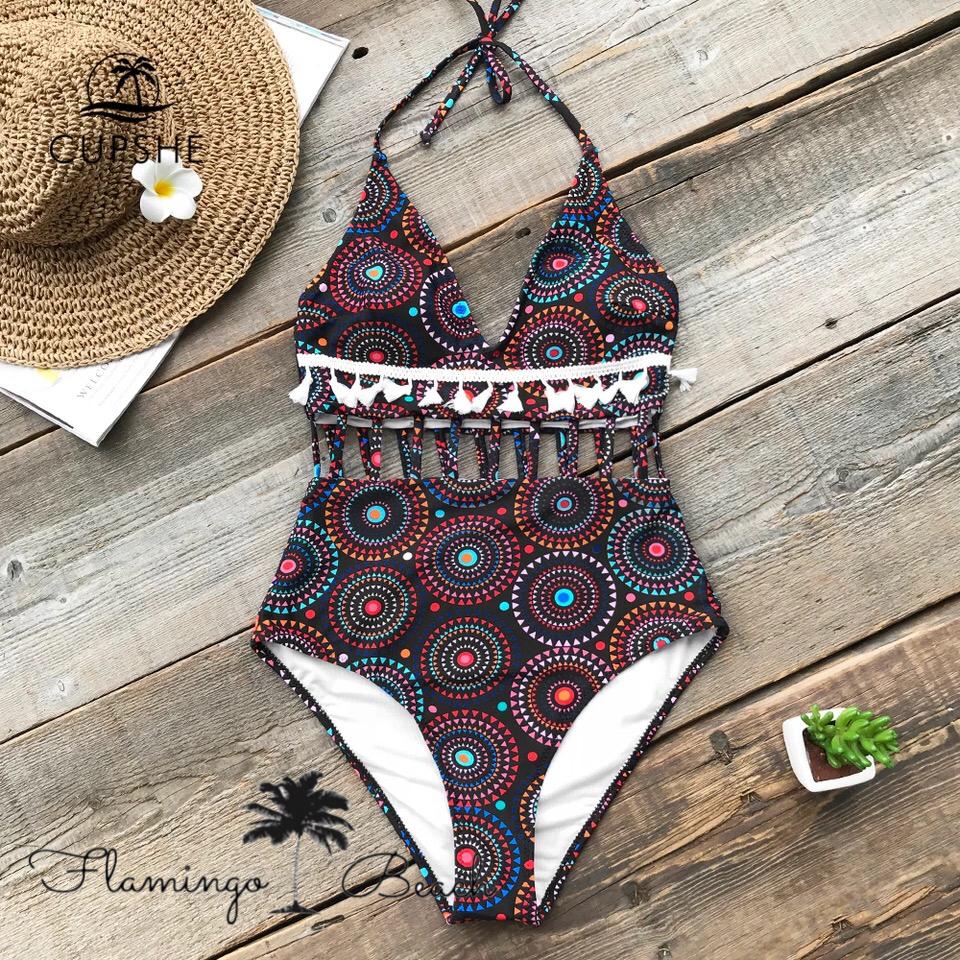 【FlamingoBeach】tassel boho bikini