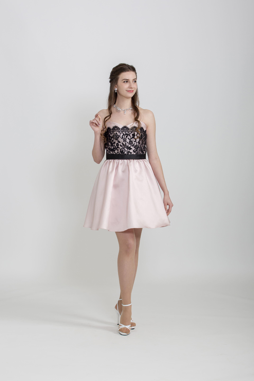【販売】ピンクサテンミニドレス