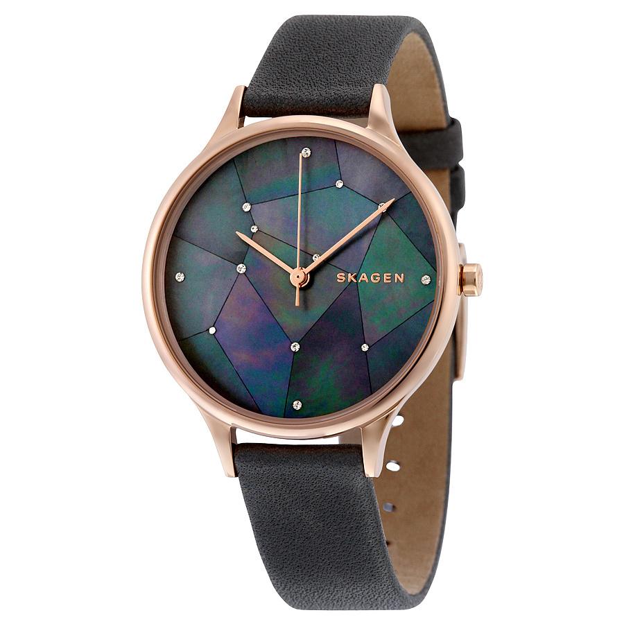 SKAGEN 星空グレーレザー 腕時計 SKW2390