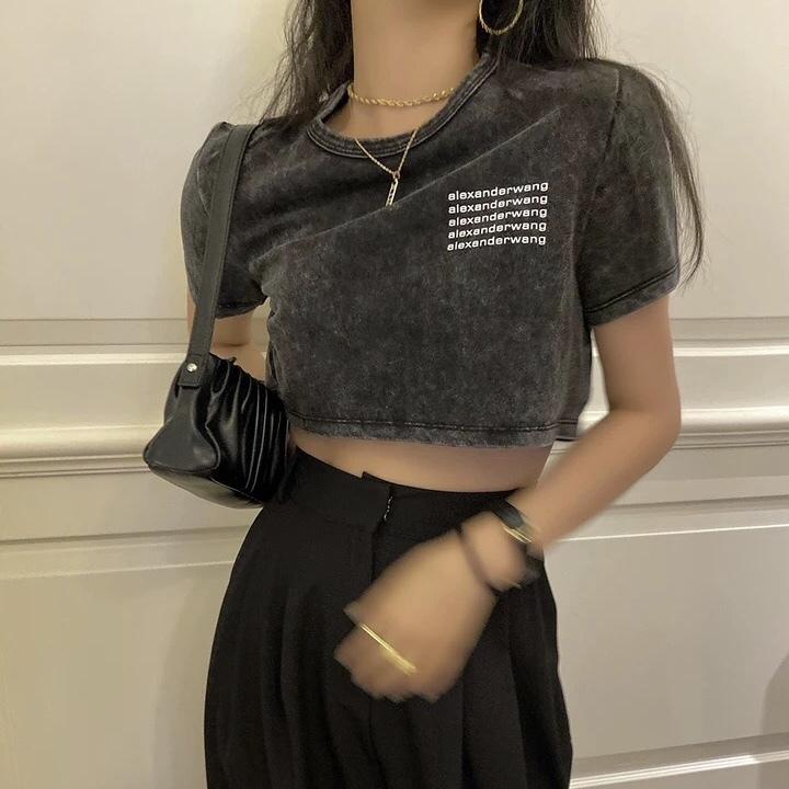 marble black t-shirt