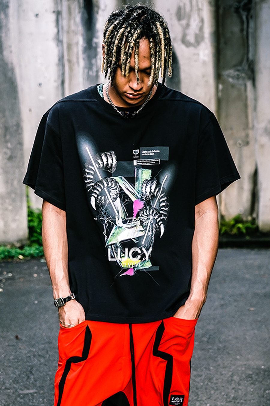TCR&ID COLLABORATION OVERSIZED  S/S TEE - BLACK/