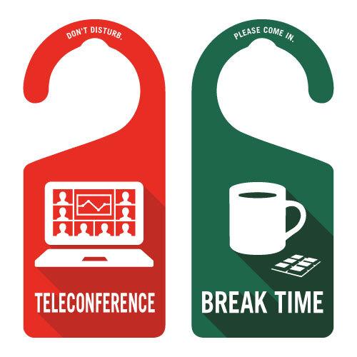 TELECONFERENCE(テレカンファレンス中)[1009] 【全国送料無料】 ドアノブ ドアプレート メッセージプレート