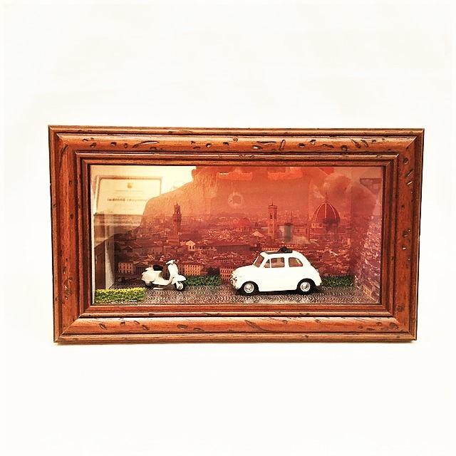 Diorama realizzato con modello Fiat 500 Vitess 4790 1/43【RE-PLAY】【1個のみ】【税込価格】