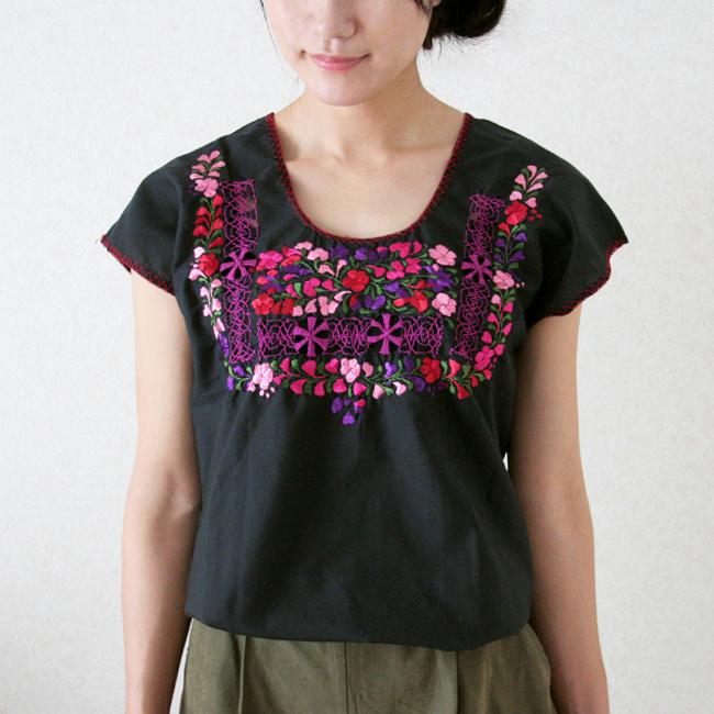 オアハカ刺繍ブラウス / M-Lsize /212_h/ MEXICO メキシコ
