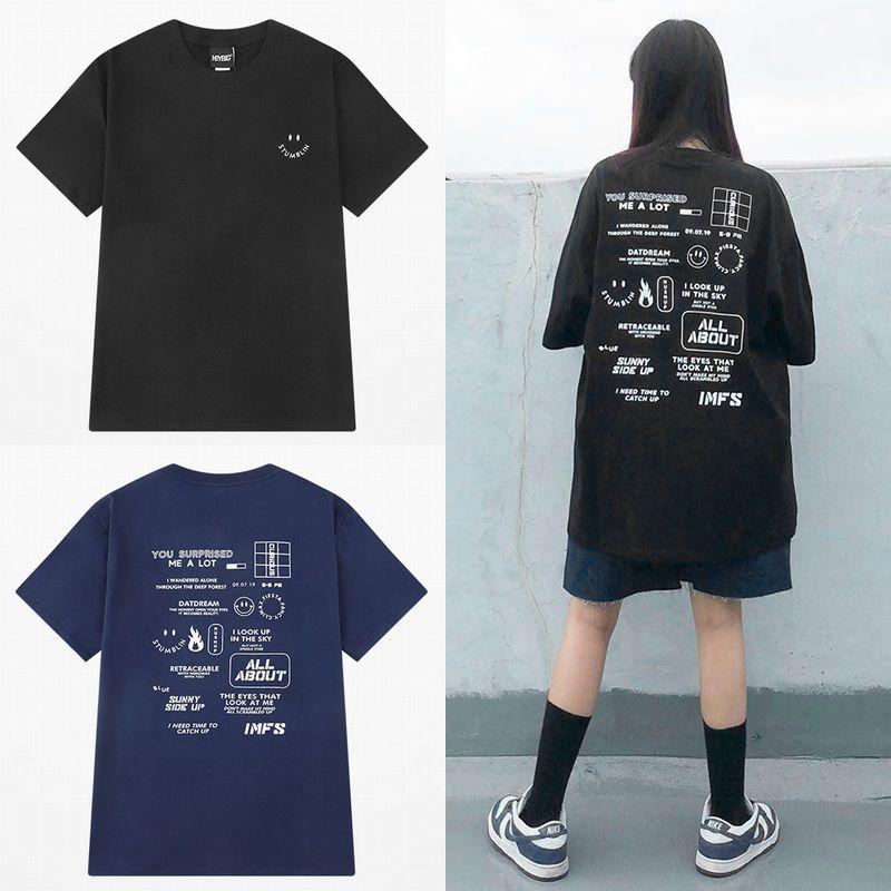 ユニセックス Tシャツ 半袖 メンズ レディース ラウンドネック シンプル バックプリント オーバーサイズ 大きいサイズ ルーズ ストリート