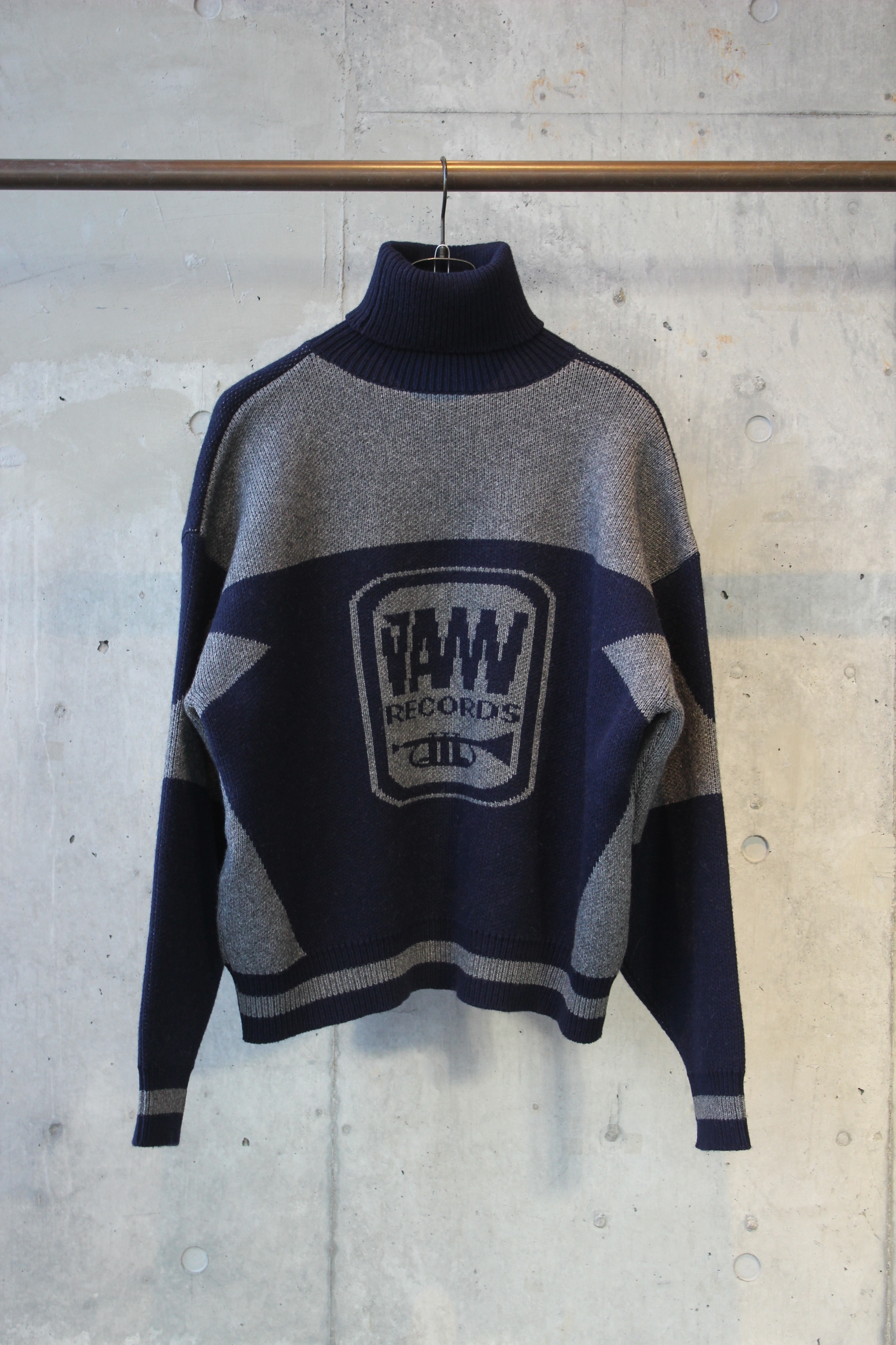 【40%OFF】knit turtle neck pullover / NAVY - 画像1