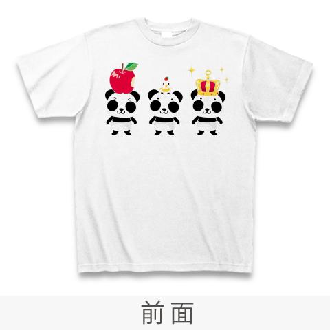 A*ズレてもぱんだ ズレぱんだちゃん*Tシャツ_ホワイトCT03