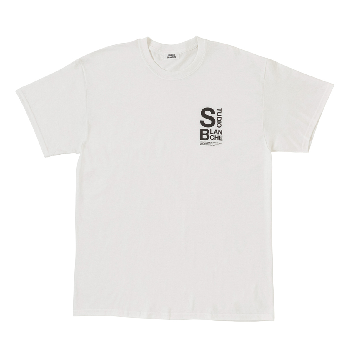 STUDIO BLANCHE / LOGO PRINT Tシャツ