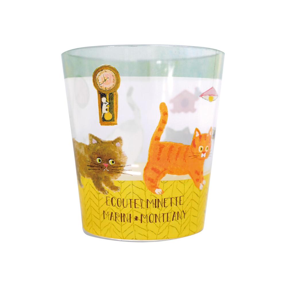 猫タンブラー(エクートミネットクリアタンブラー)僕のしっぽ