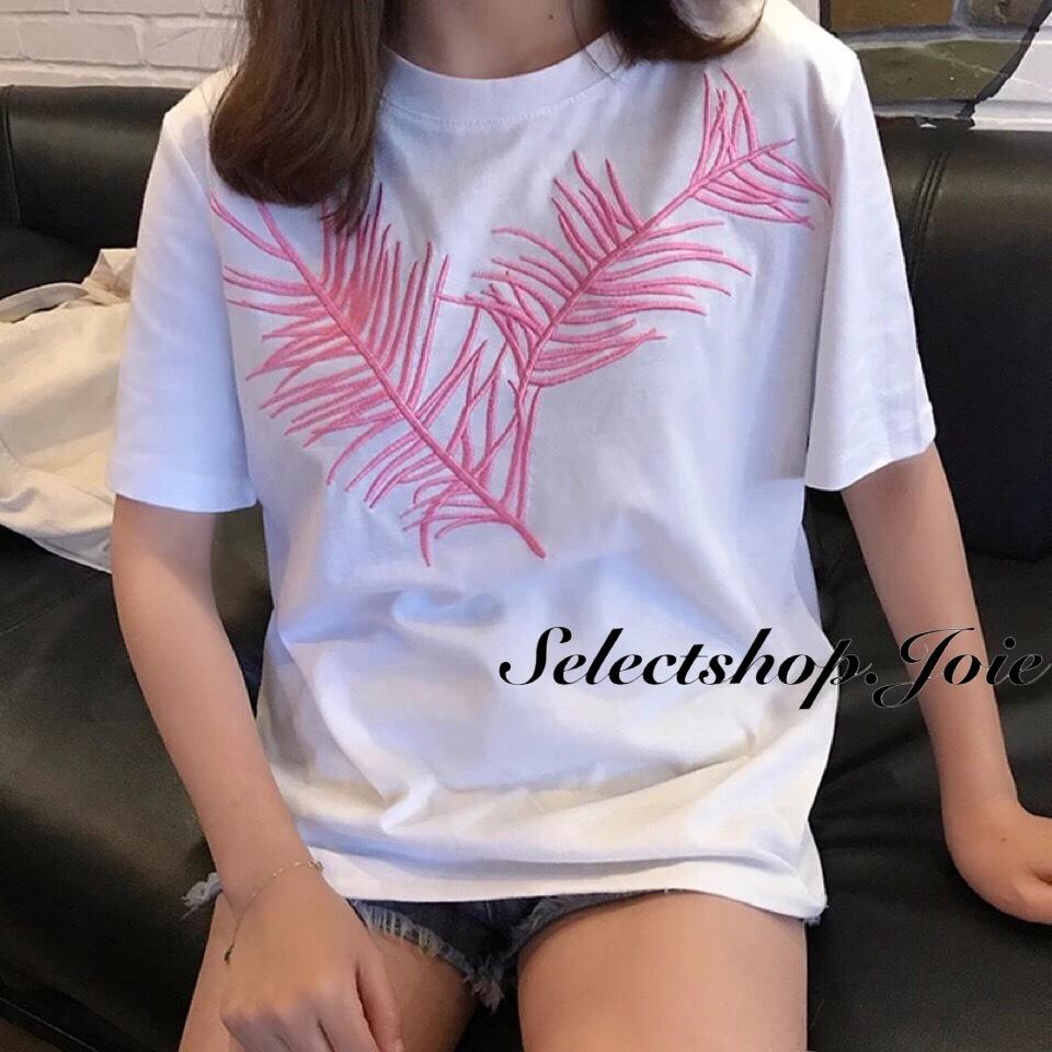 クロスリーフ刺繍Tシャツ 2色展開