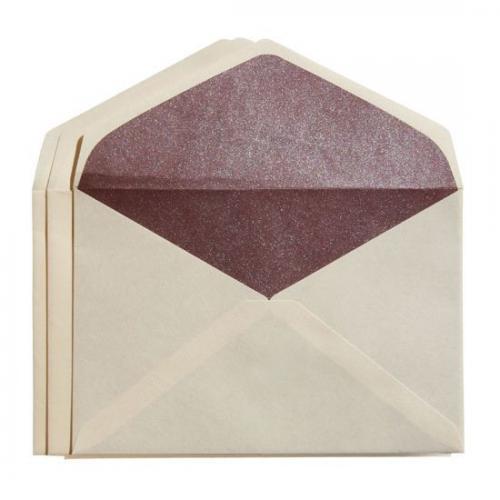カドをとった二重封筒ダイヤ貼り・洋3(JIS洋1)・雁皮/檜皮(ひわだ)・3枚組