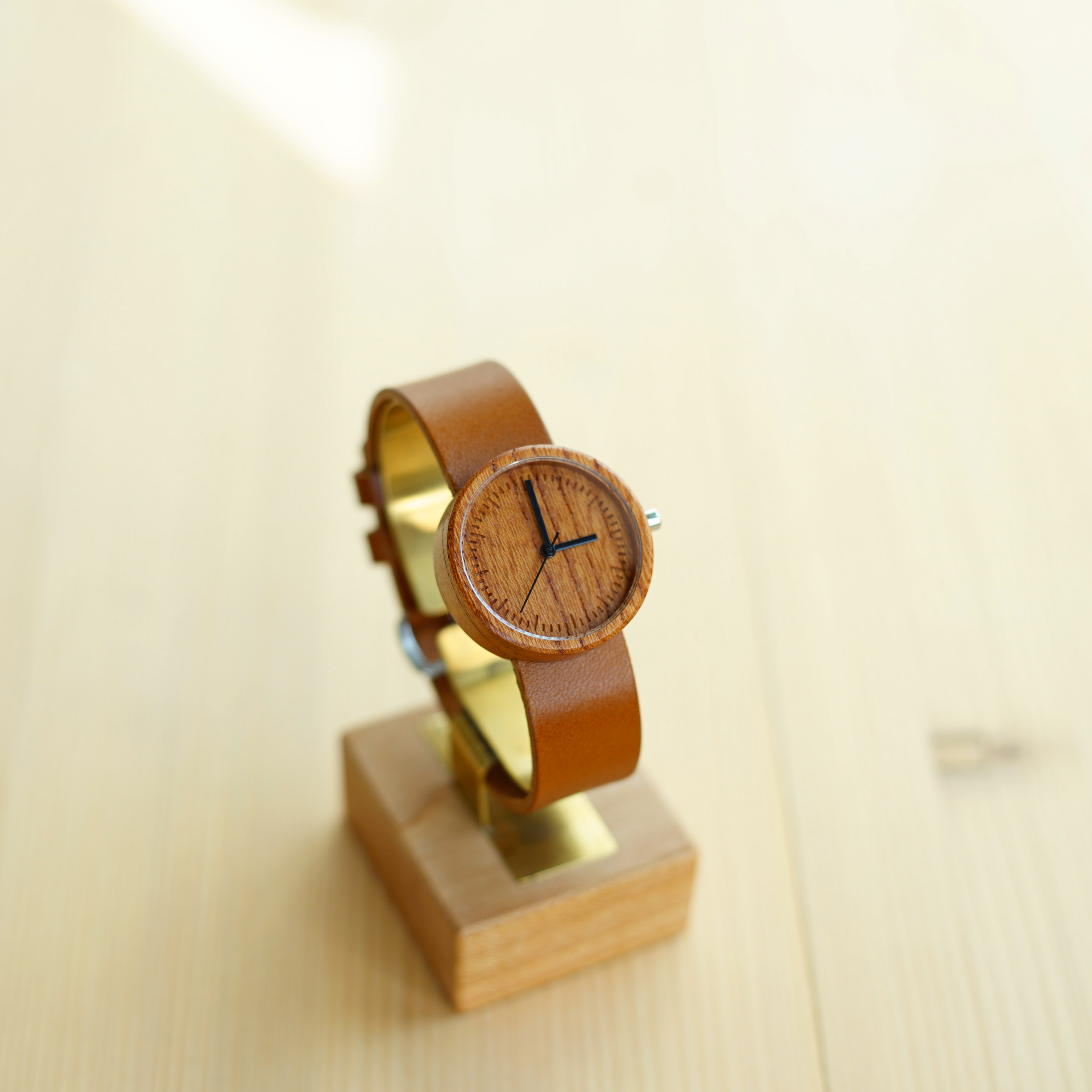 60 Sec. Zelkova wood - Organic leather - M