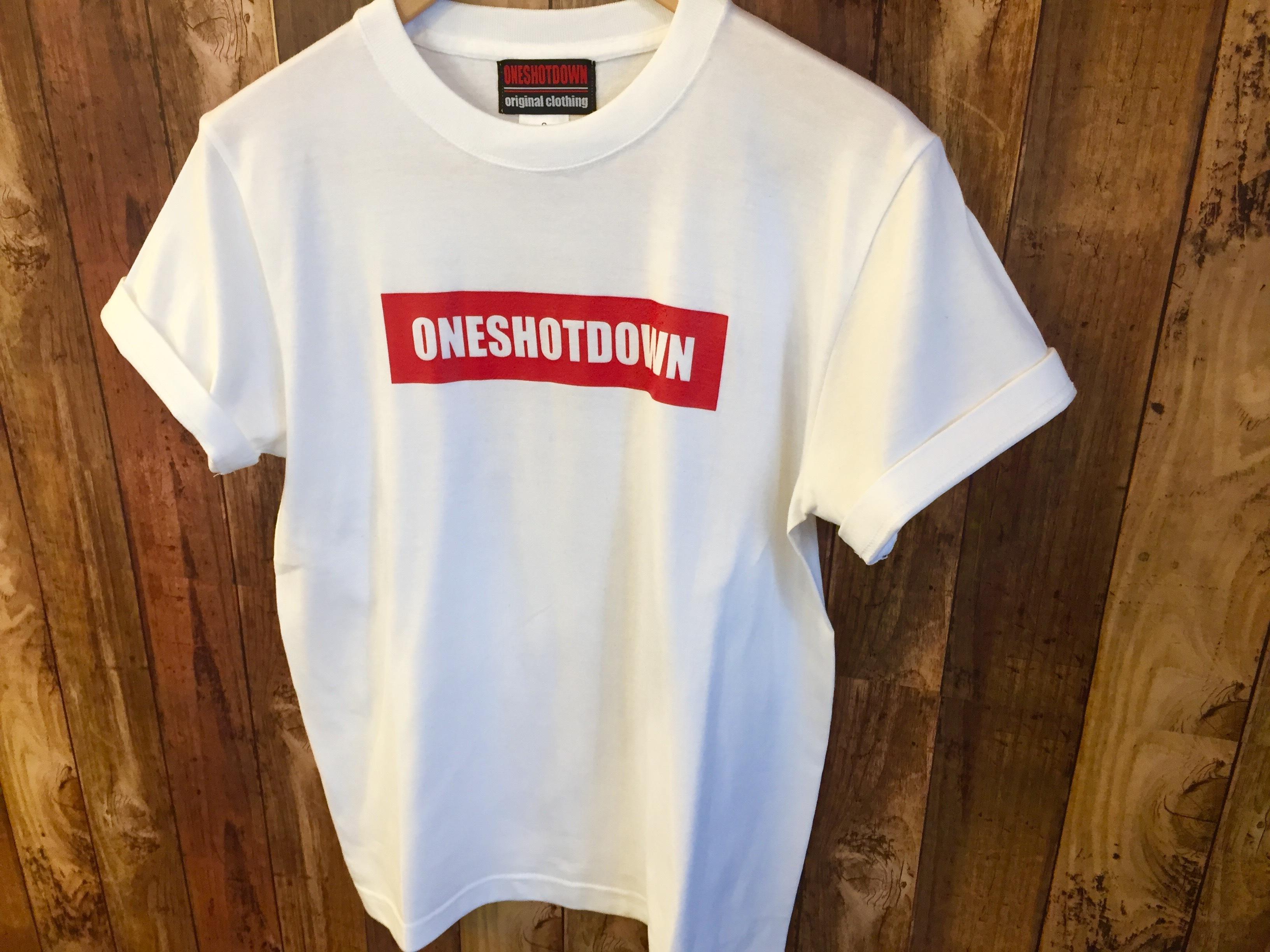 ONESHOTDOWN ボックスロゴ Tシャツ - 画像4