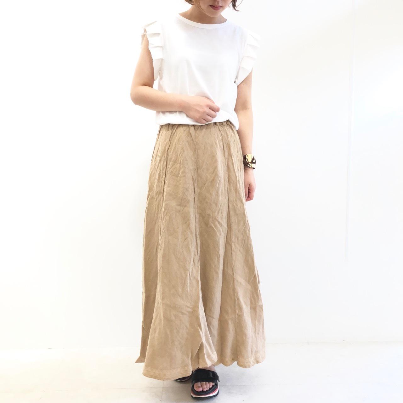 【 Valance select 】- 210277 -シワ加工リネンスカート