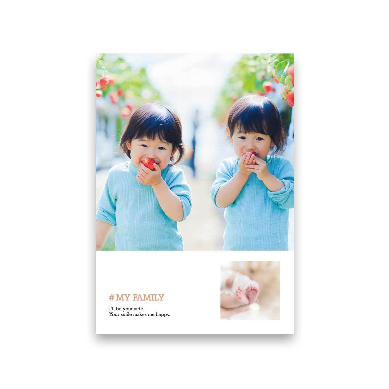 好きな写真でつくるフォトポスター「2Shot #MY FAMILY」