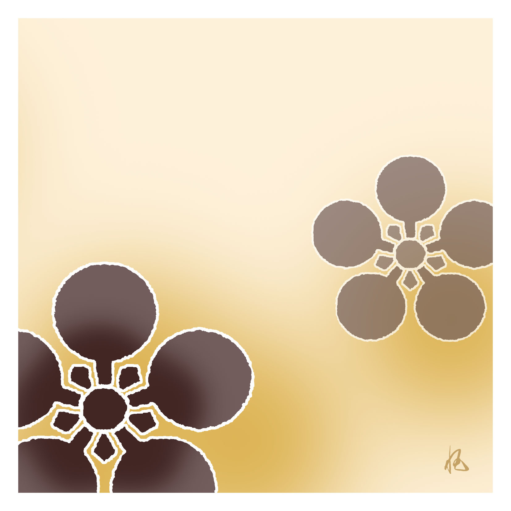 ガラス皿「そめゆら」K-08 梅鉢紋 イエロー