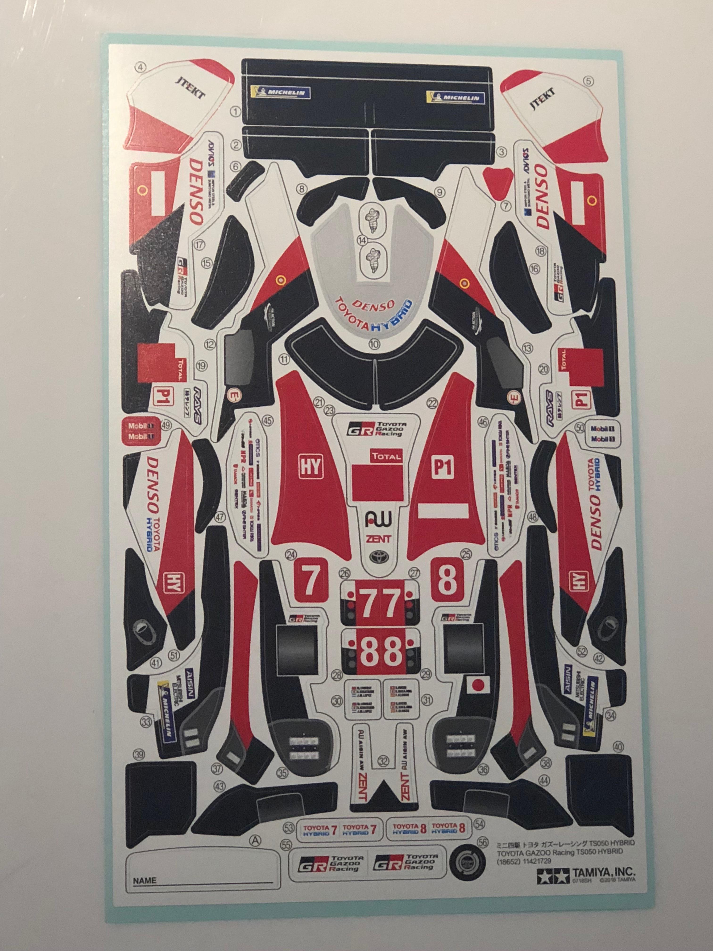 TOYOTA GAZOO Racing TS050 HYBRID ステッカー