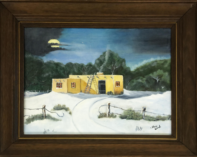 品番5025 絵画 Russell J & G Brinkman ハウス 雪 アート インテリア