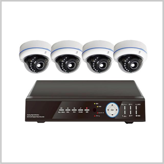 AHD2.0ドームカメラ4台セット MAX-DOMCAMSET-AD