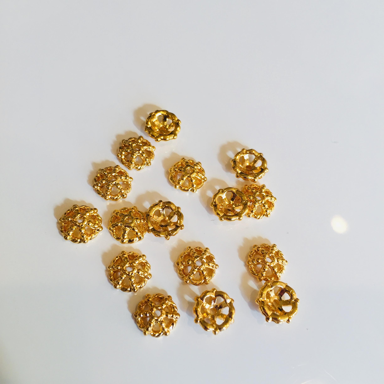 メタルビーズキャップ ゴールド 約6mm 8個セット