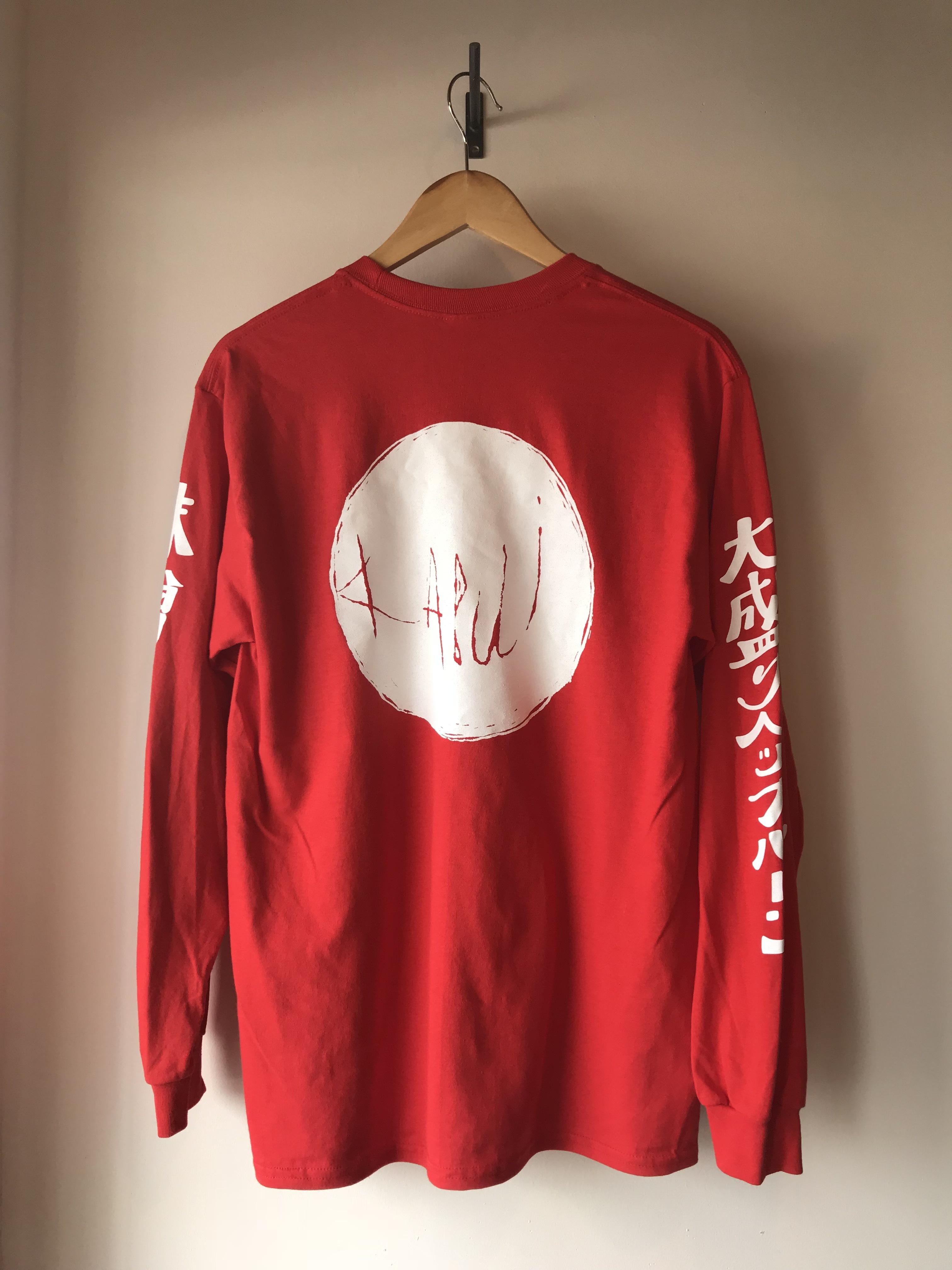 kabui オリジナル 日の丸 ロンT レッド