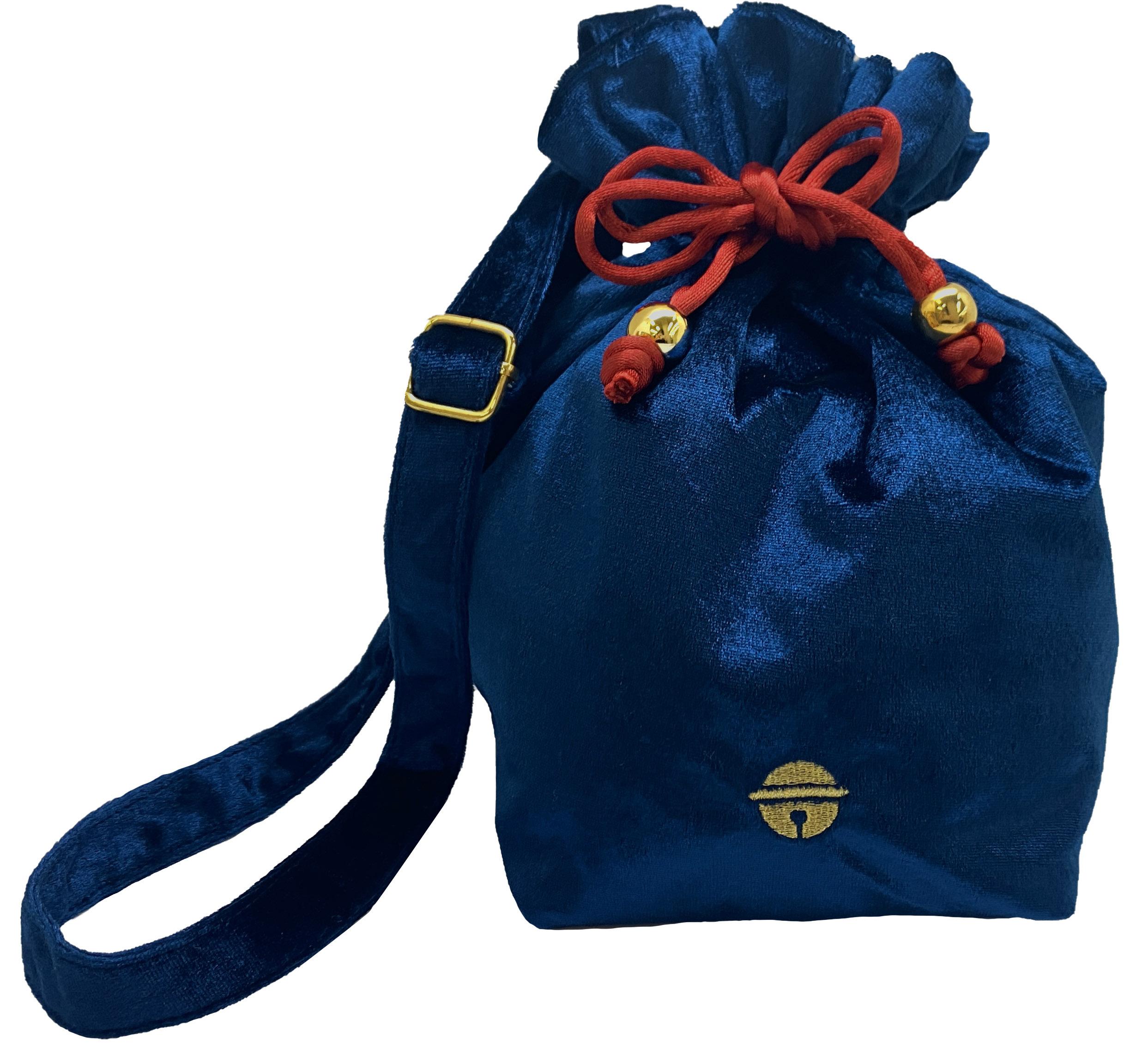 ドラえもん HIMITSU DOUGU ベロア雑貨シリーズ 巾着バッグ  /  エンスカイ