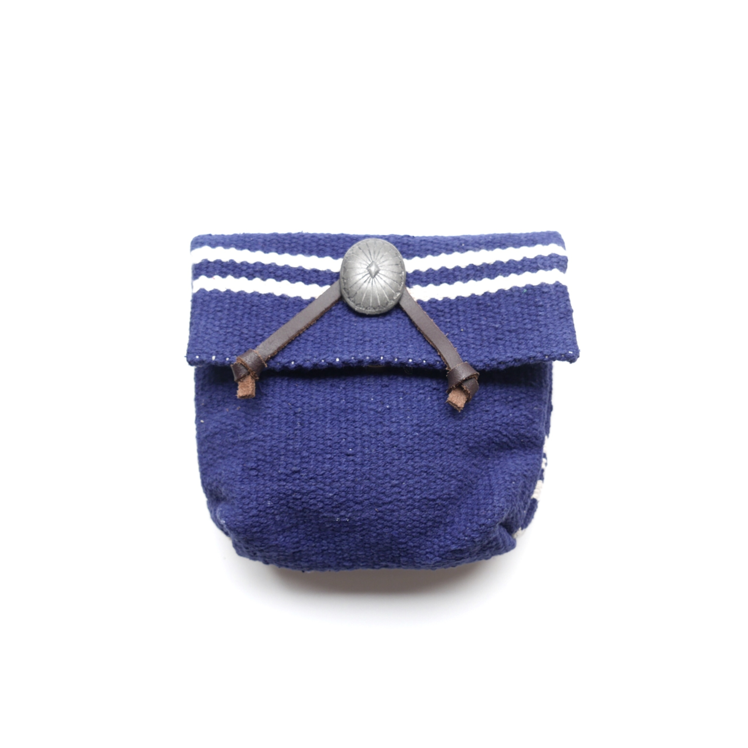 Wave Border Pouch-navy-