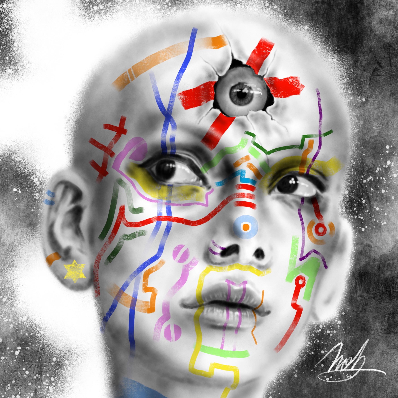 絵画 インテリア アートパネル 雑貨 壁掛け 置物 おしゃれ 目 現代アート ロココロ 画家 : nob 作品 : Third eye