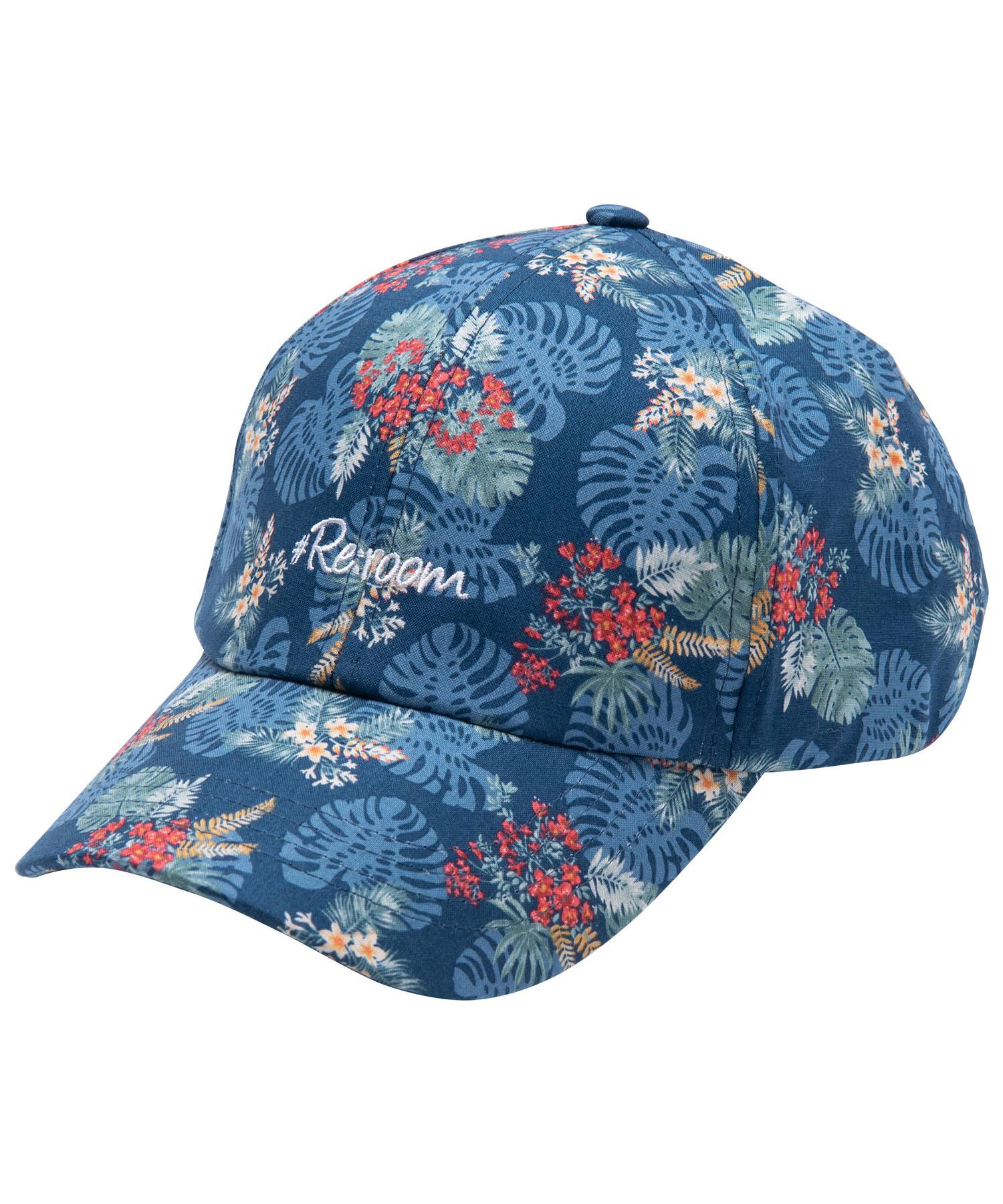 BOTANICAL PATTERN LOGO CAP[REH063]