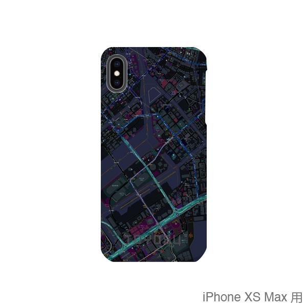【豊洲】地図柄iPhoneケース(バックカバータイプ・ブラック)