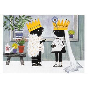 ポストカード 小さな王さまと女王さま(FO_PO_10078)