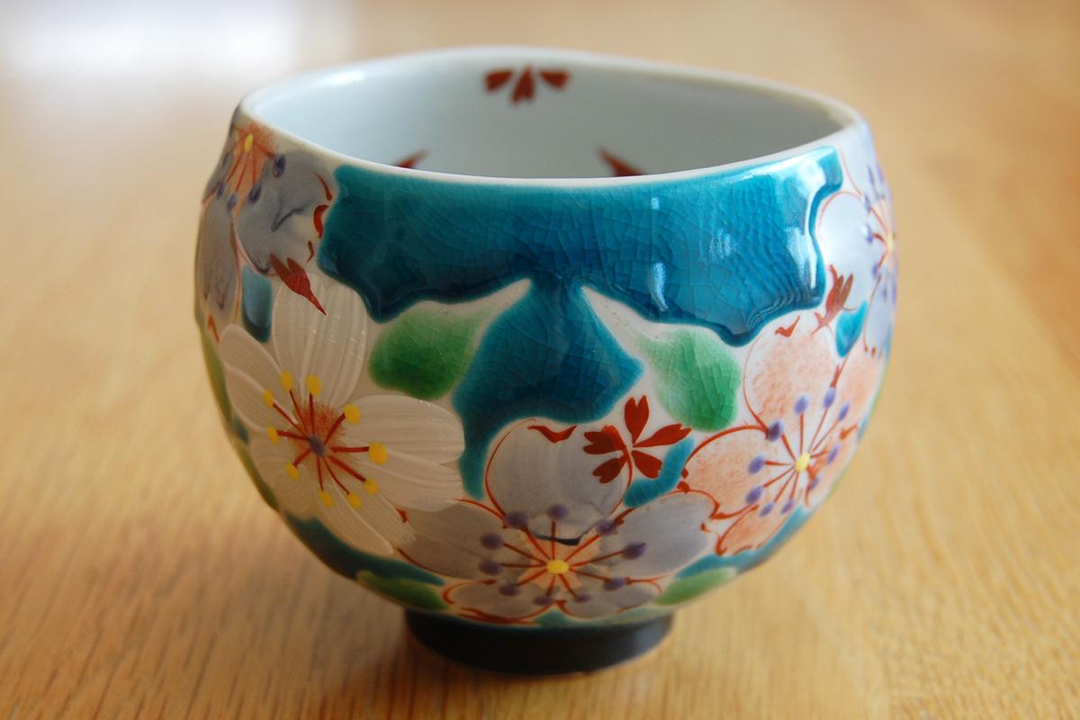 いっぷく碗 桜の宴ブルー