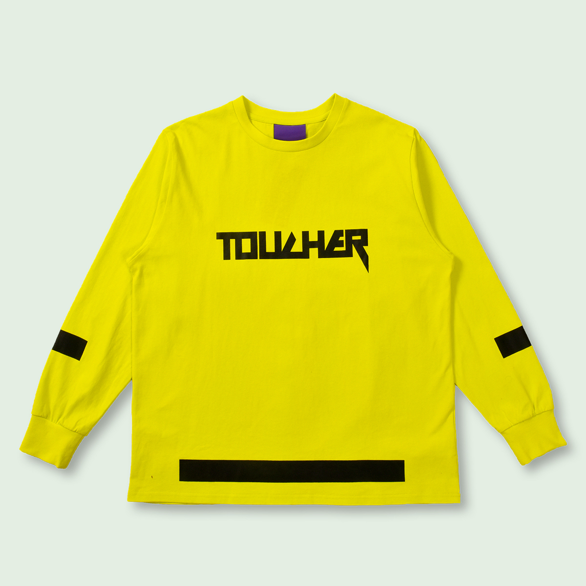 OVERSIZED TOUCHER LONG SLEEVE TEE - YELLOW