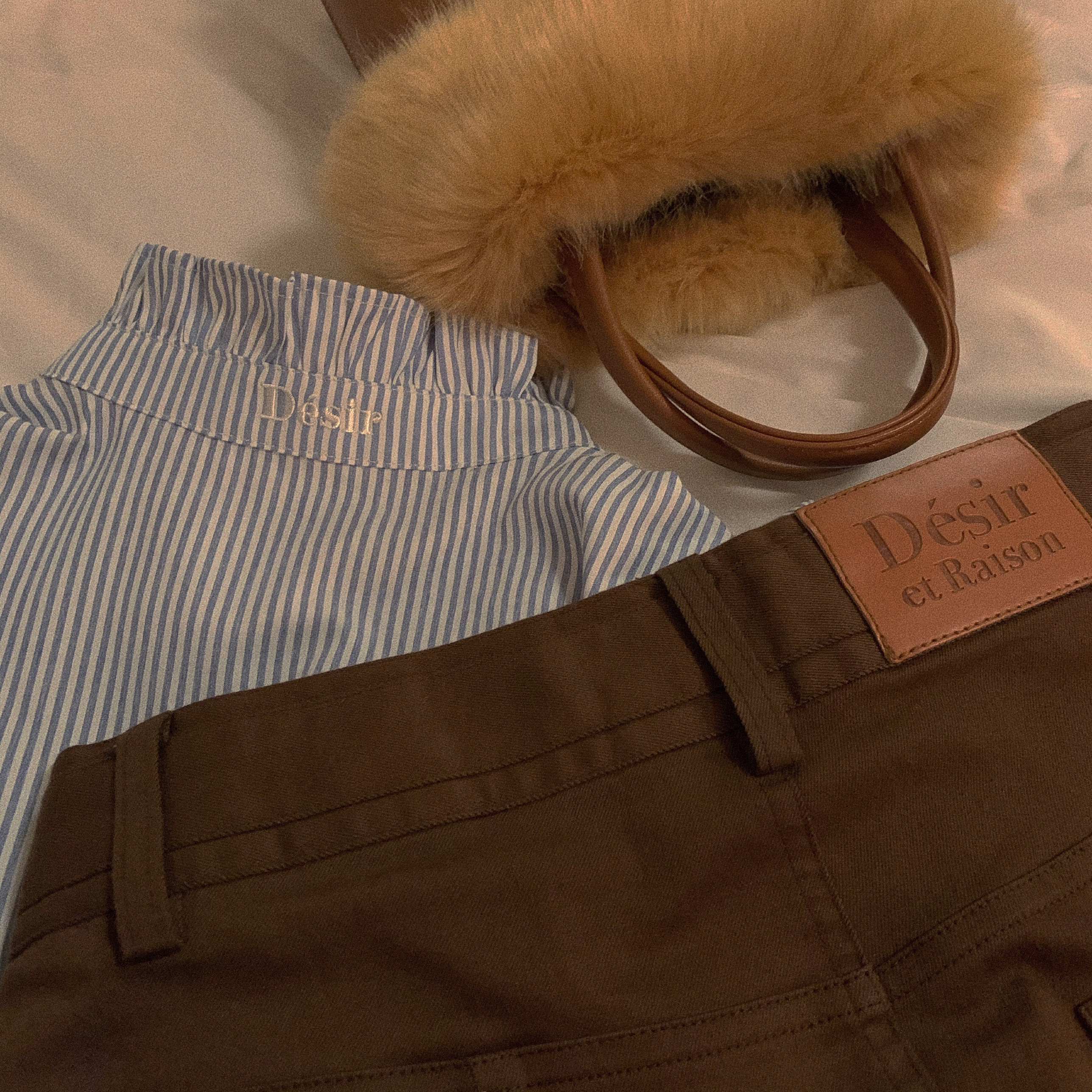 【Désir original】brown skinny pants