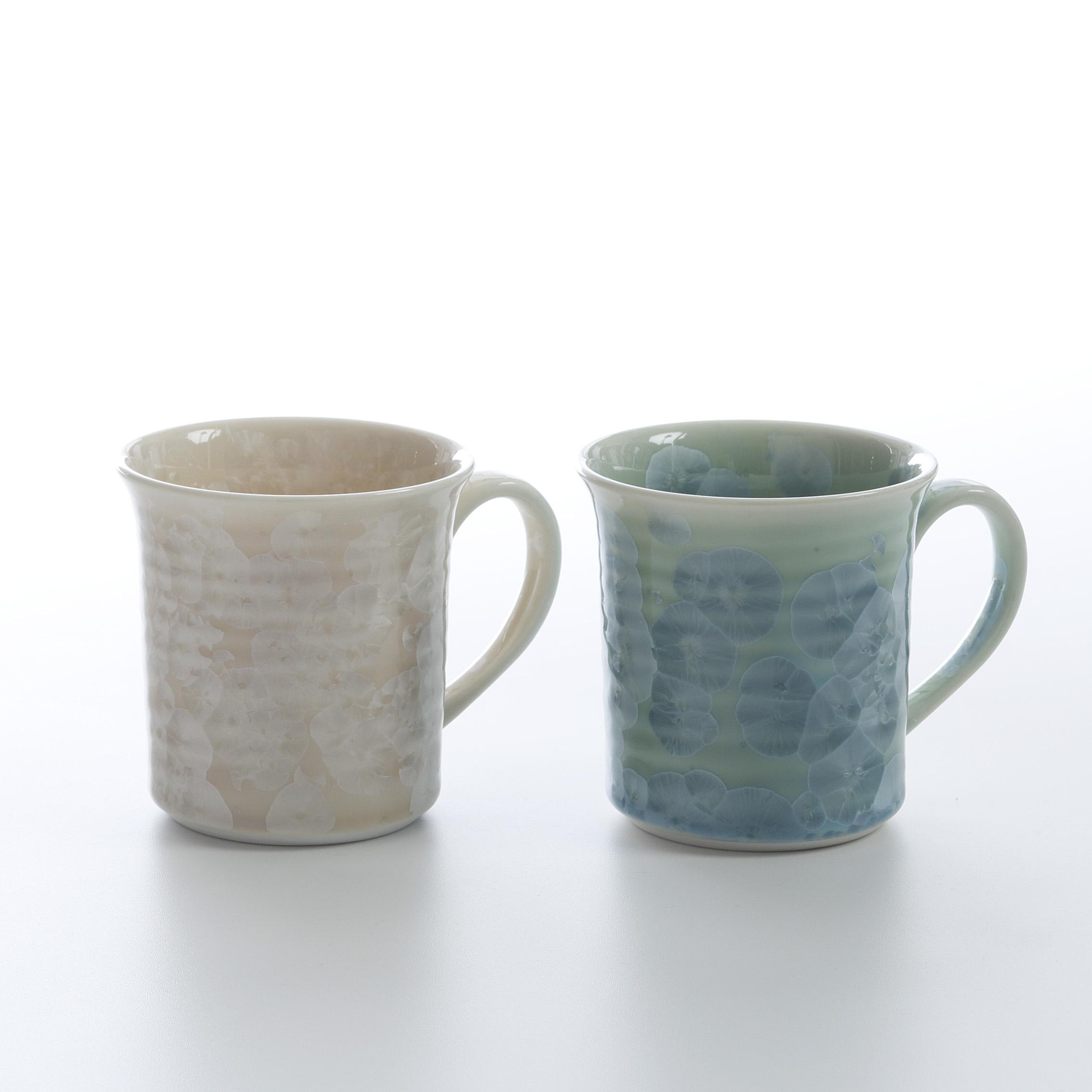 花結晶ペアマグカップ