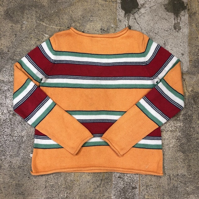 Lauren Border Cotton Sweater ¥5,400+tax