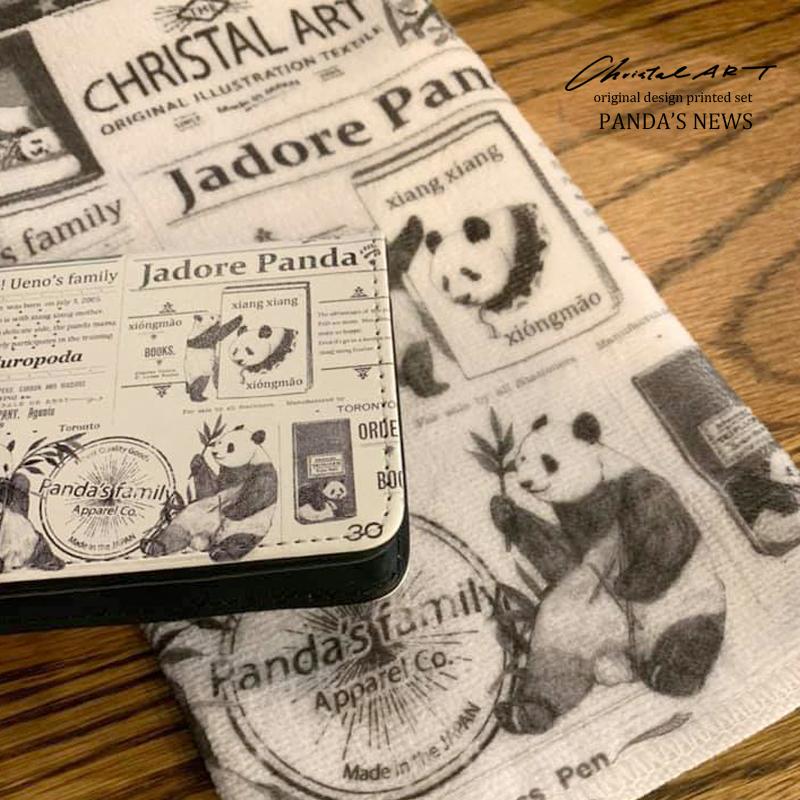■即納■デザインカードケース「パンダニュース」柄■