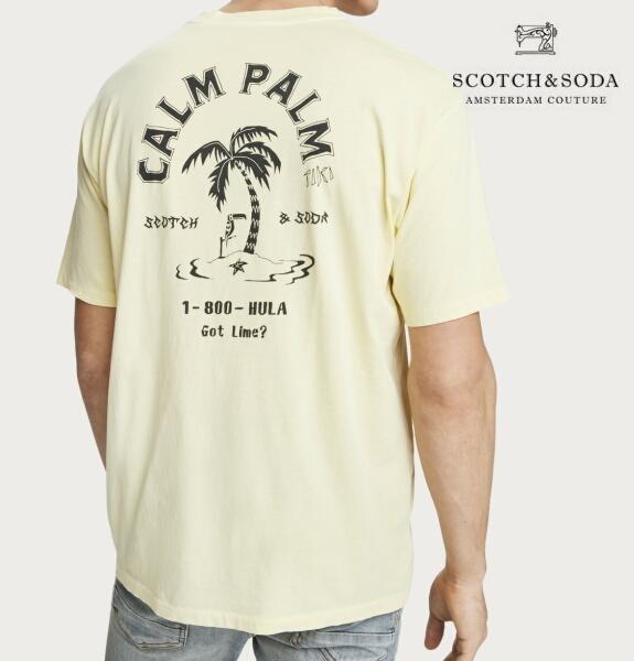 スコッチ&ソーダ SCOTCH&SODA 半袖 Tシャツ クルーネック プリント Tシャツ 292-14405
