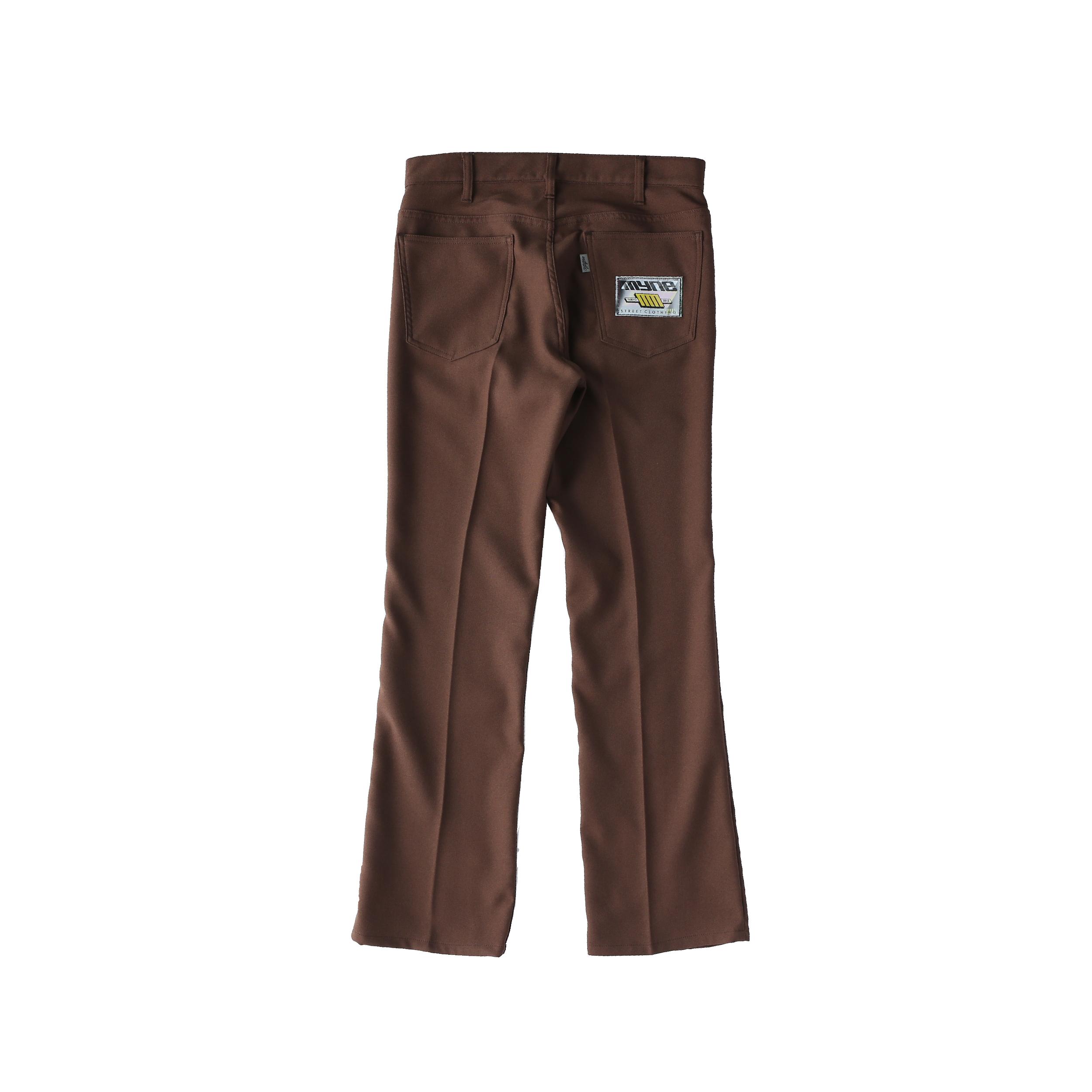 Wappen boot-cut pants / BROWN - 画像2