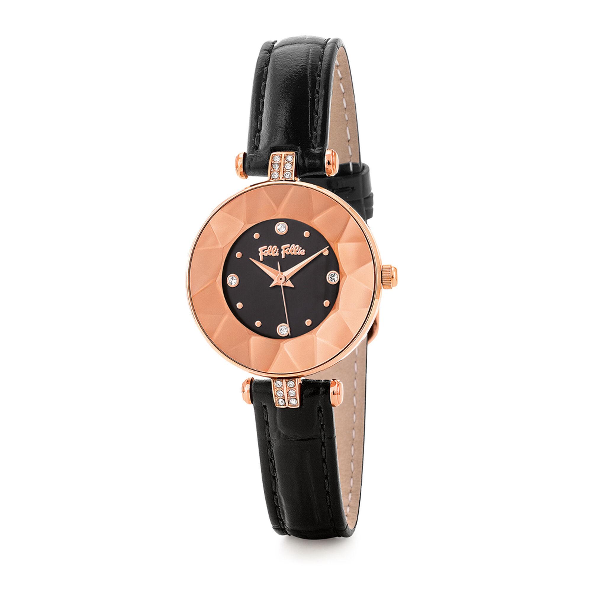 CHIC & SLEEK カットガラスウォッチ/腕時計