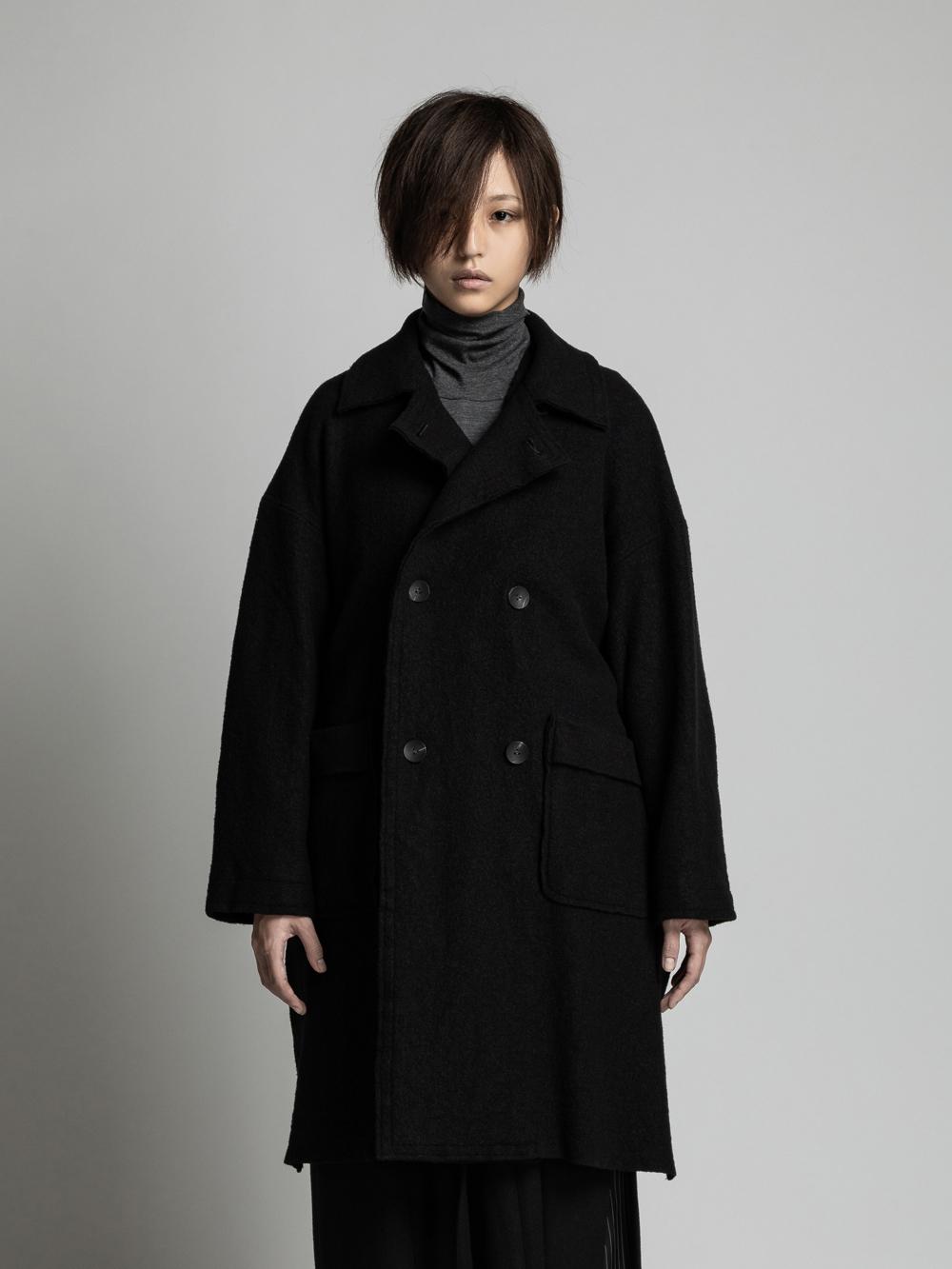 VI-3124-06 / 縮絨ウール リバーシブル コート